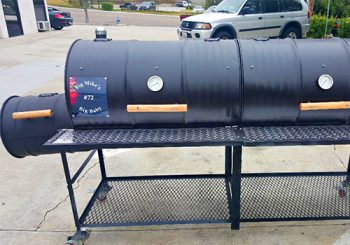 Double Barrel Grill Single Smoke Box