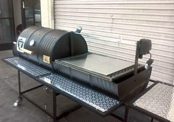 Moss Ranch Style Smoker Rotisserie Stainless Steel Plate