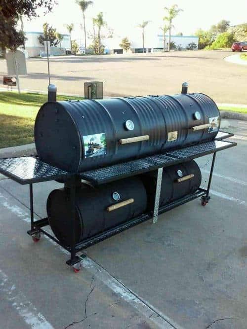 Queen Quad Custom BBQ Grill & Smoker