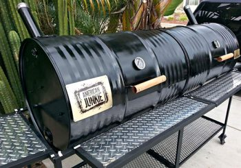 Tailgate Grill Double Barrel Diamond Plate Grill