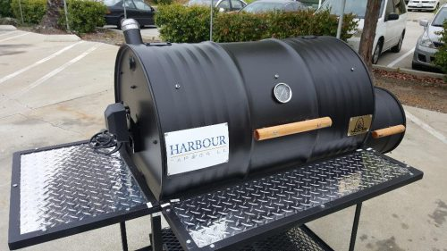Single Barrel Smoker with Rotisserie