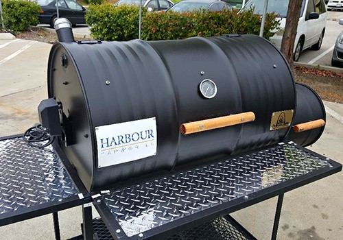 single barrel smoker with rotisserie moss grills. Black Bedroom Furniture Sets. Home Design Ideas