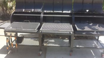 Triple Barrel Custom BBQ Grill