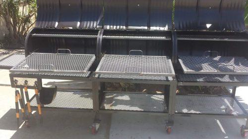 Triple Barrel Custom BBQ Grill