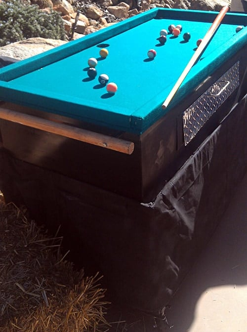 Pool Table Grill with pool table