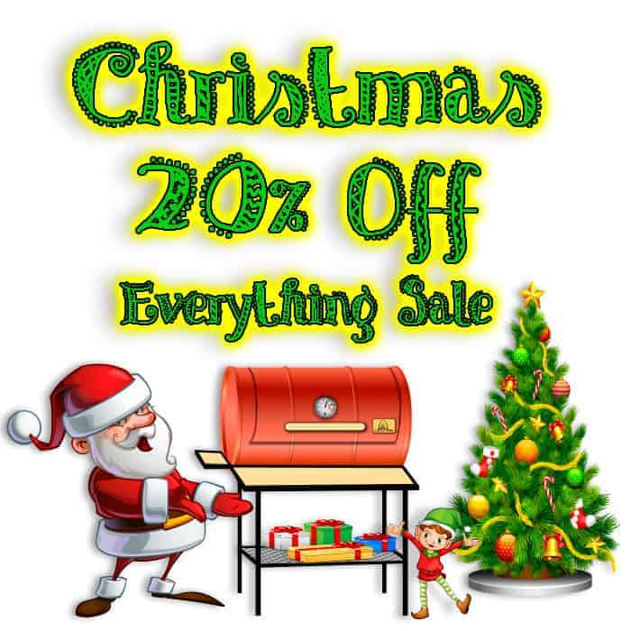 20% off everything BBQ Christmas Sale