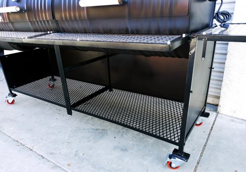 Double Barrel Grill Single Smoke Box Deluxe with Side Wall Enclosure
