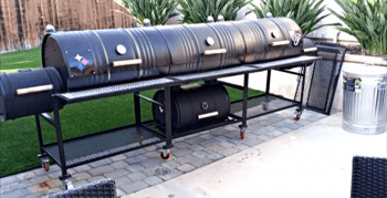 Triple Barrel Triple Smoker BBQ Grill
